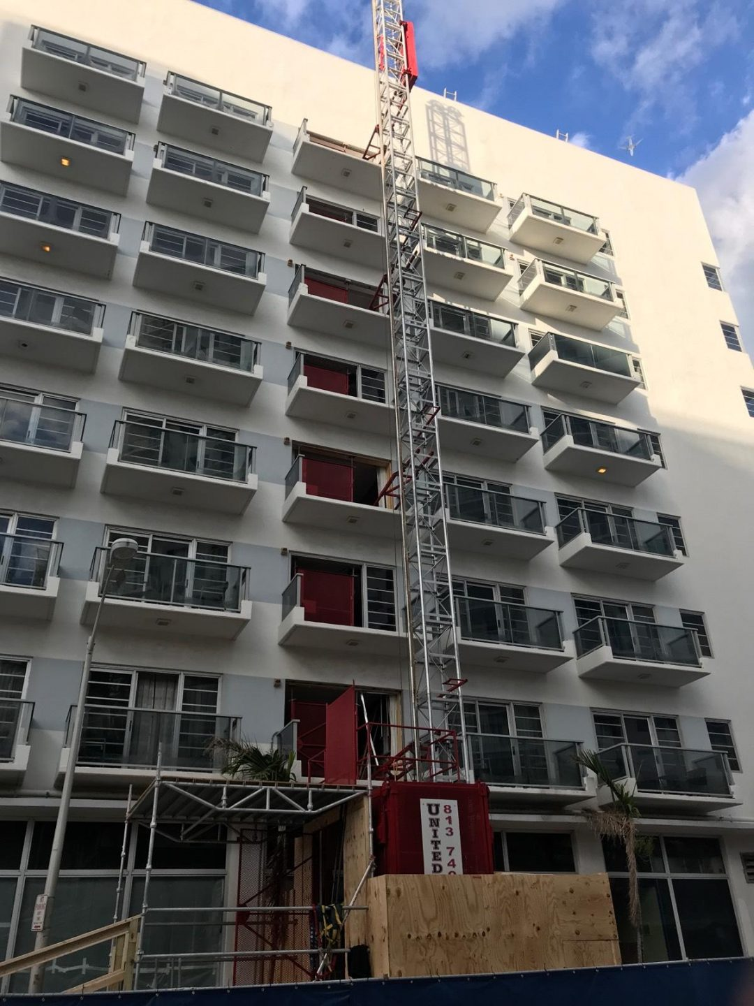 Multilevel condo construction building
