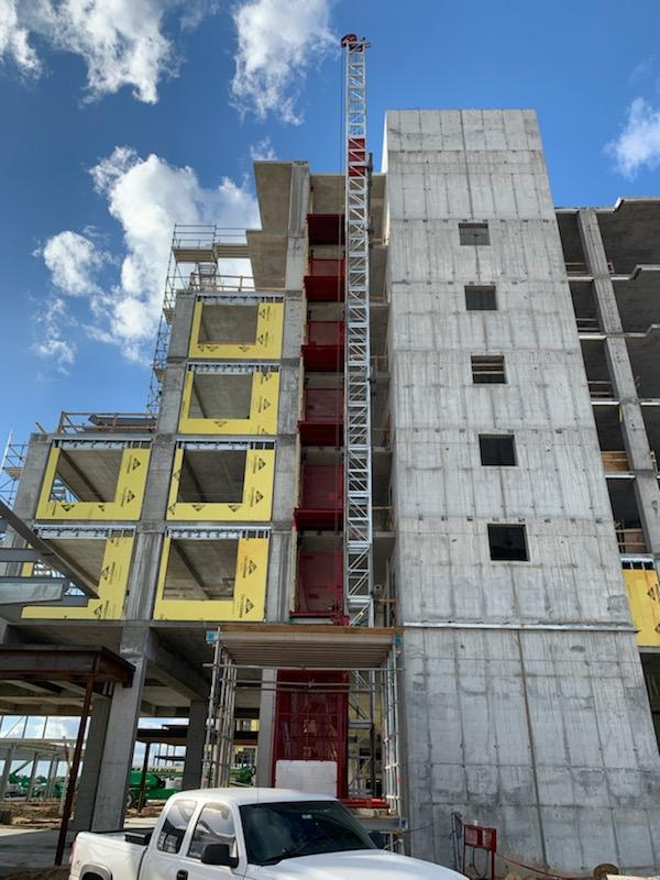 Multilevel commercial building construction