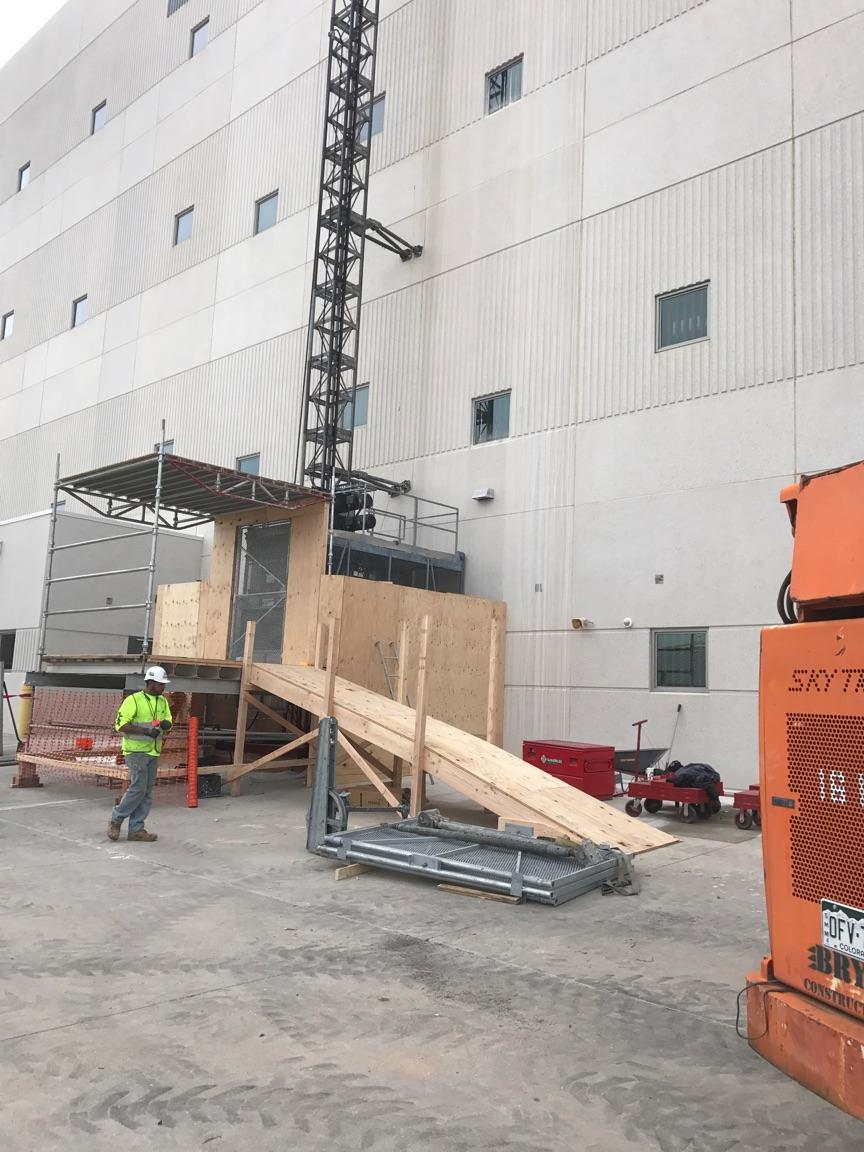 Trash chute services for building construction