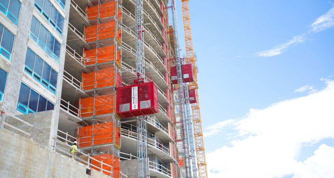 Construction hoisting solutions commercial building